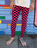 DOOF MEGGINGS - BLACK & PINK CHECKERBOARD