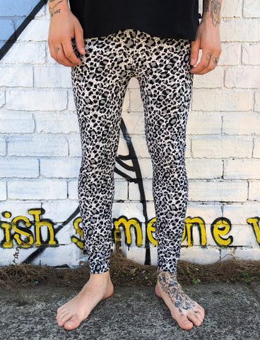 DOOF MEGGINGS - GREY LEOPARD