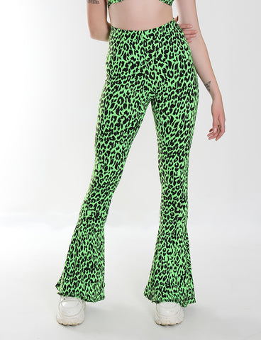*EXCLUSIVE* JESS DISCO FLARES - LEOPARD