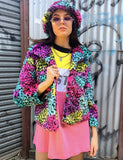 LISA RAINBOW CROPPED DOOF JACKET *MADE TO ORDER*