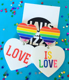 HAUS OF DIZZY LOVE IS LOVE EARRINGS