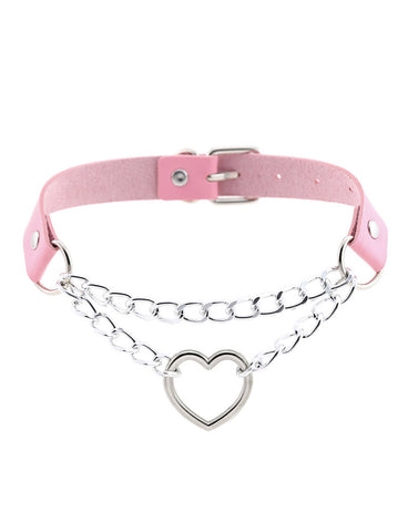 LOVED UP CHOKER - PINK