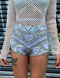 COSMIC LOVER SHORTIES - SEQUIN HOT PANTS