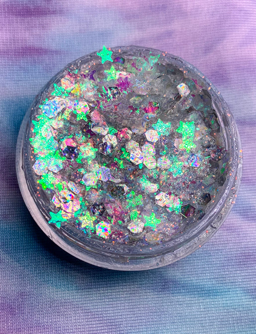 *EXCLUSIVE* COSMIC DUST HAIR & FACE GLITTER GEL