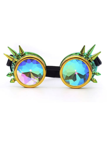 MAD MAX GOGGLES - GREEN/GOLD
