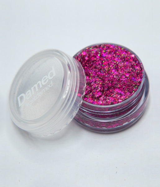 HOLOGRAPHIC MAGENTA COSMETIC GLITTER GLUE