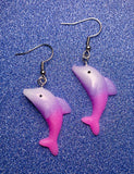 MAGICAL DOLPHIN EARRINGS - PINK