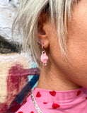 DUST MASK EARRINGS - PINK