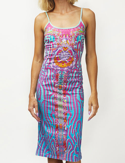 CRYPTIC FREQUENCY COTTON MAXI DRESS