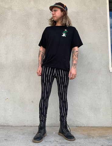 DOOF MEGGINGS - SKETCHY STRIPE