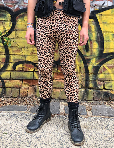 DOOF MEGGINGS - BROWN LEOPARD