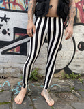 DOOF MEGGINGS - BLACK & WHITE STRIPE