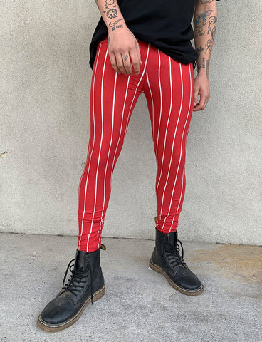 DOOF MEGGINGS - RED STRIPE