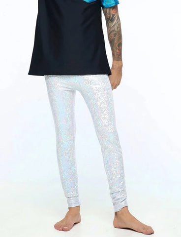 HOLOGRAPHIC MEGGINGS - PLAYA WHITE