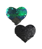 HEART NIPPLE PASTIES - MERMAID SEQUIN