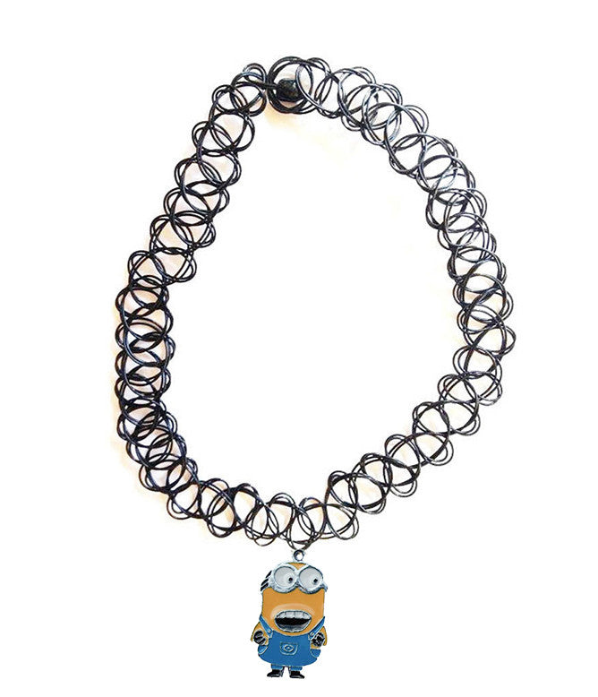 MINION PENDANT TATTOO CHOKER