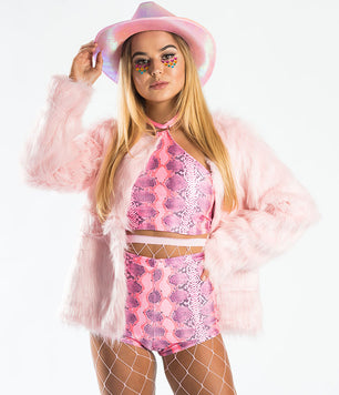 MONSTER JACKET - BABY PINK