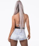 YOGA DISCO SHORTS - MOON ROCK