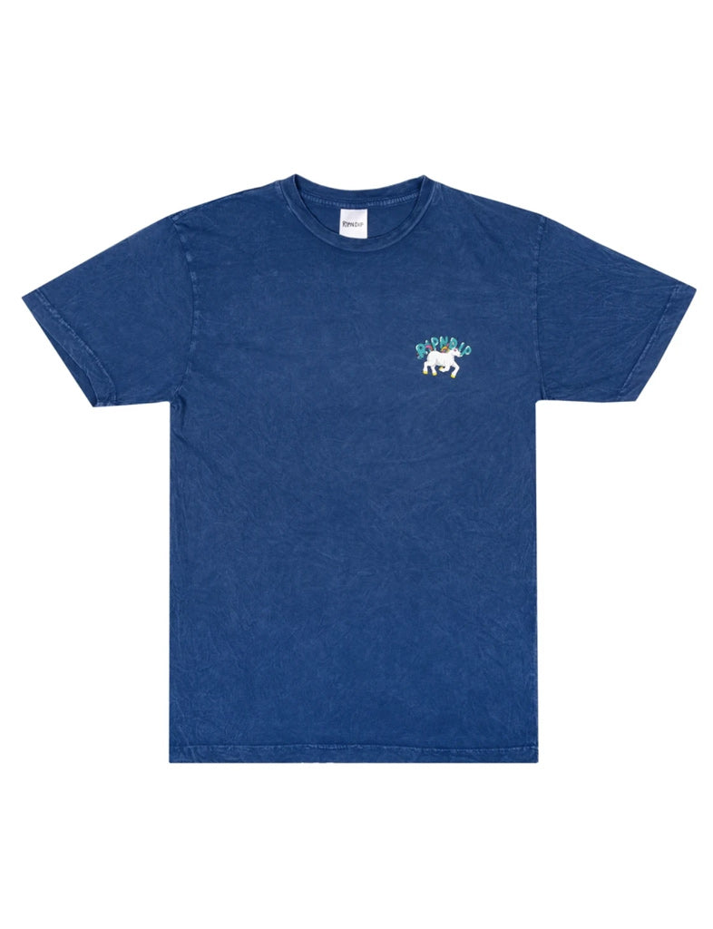 NERMLAND TEE - BLUE MINERAL