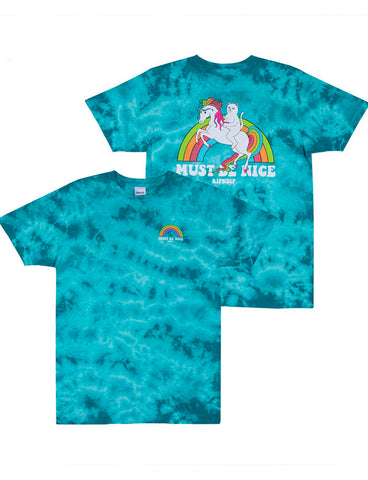 MY LITTLE NERM TEE - BLUE TIE DYE