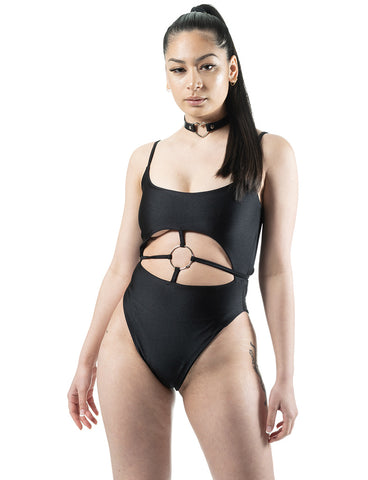 NOLA LEOTARD - JET BLACK