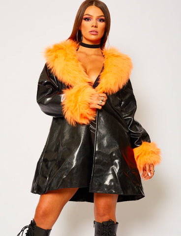 ORANGE FUR JACKET