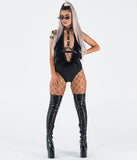 PARTY BODYSUIT - BLACK OSTRICH