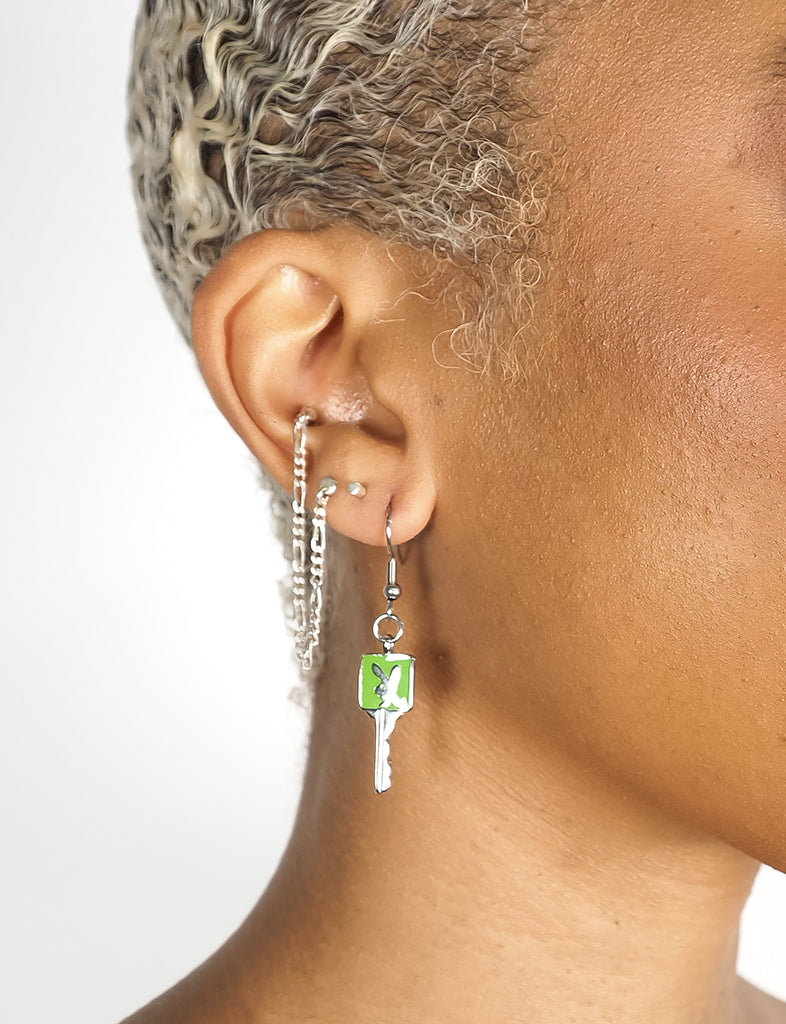 BUNNY KEY EARRINGS - GREEN