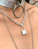 COMING BACK PADLOCK NECKLACE
