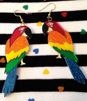 TROPICAL PARROT EARRINGS