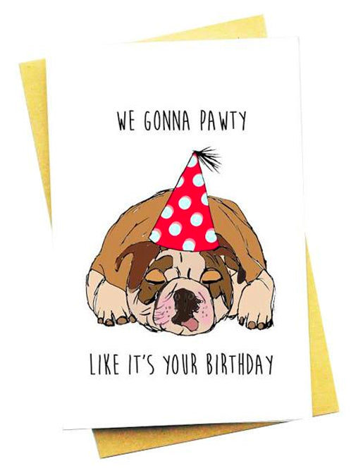 PAWTY GREETING CARD