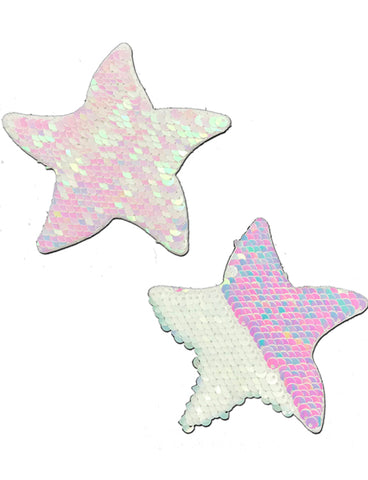 STARFISH NIPPLE PASTIES - PEARL SEQUIN