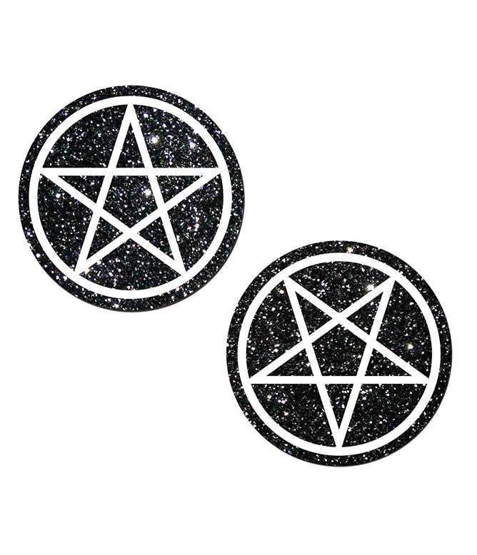 PENTAGRAM NIPPLE PASTIES - BLACK