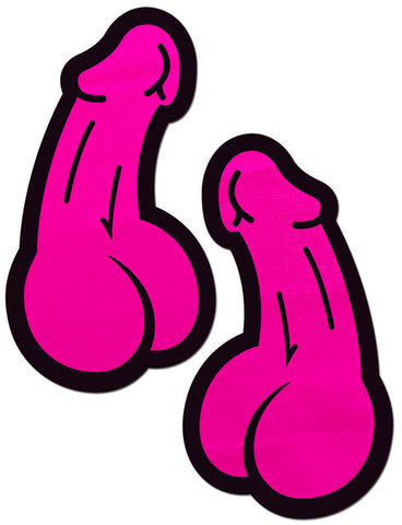 PENIS NIPPLE PASTIES - HOT PINK