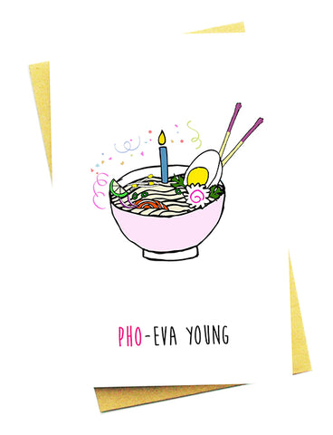 PHO-EVER YOUNG GREETING CARD