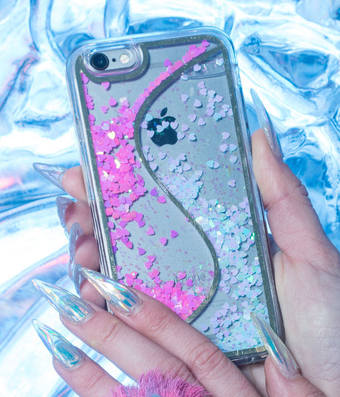 LIQUID WAVES GLITTER RAIN PHONE 6 / 6 PLUS CASE