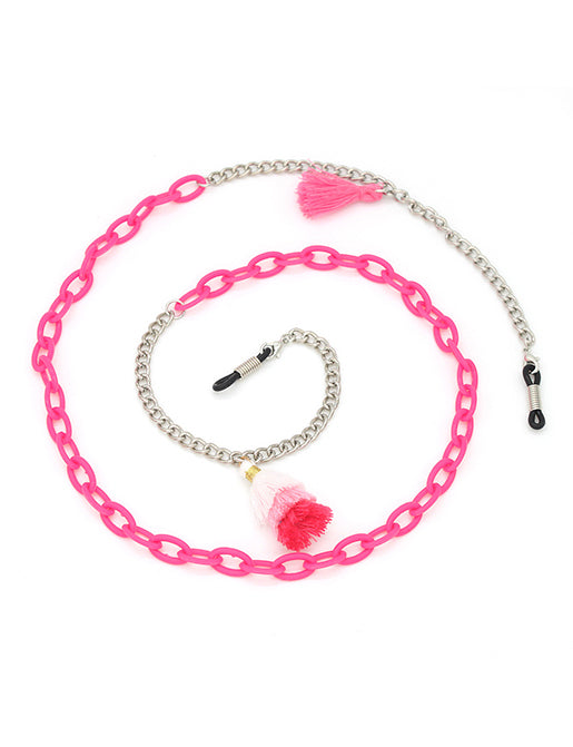 PRETTY IN PINK SUNGLASSES CHAIN