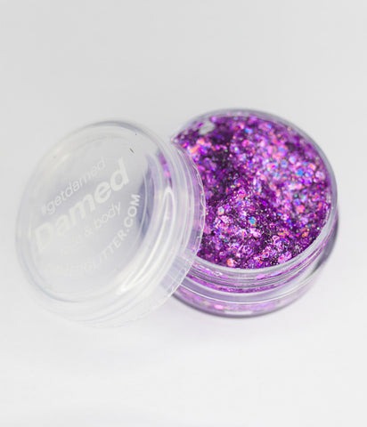 HOLOGRAPHIC PINK GLITTER GLUE