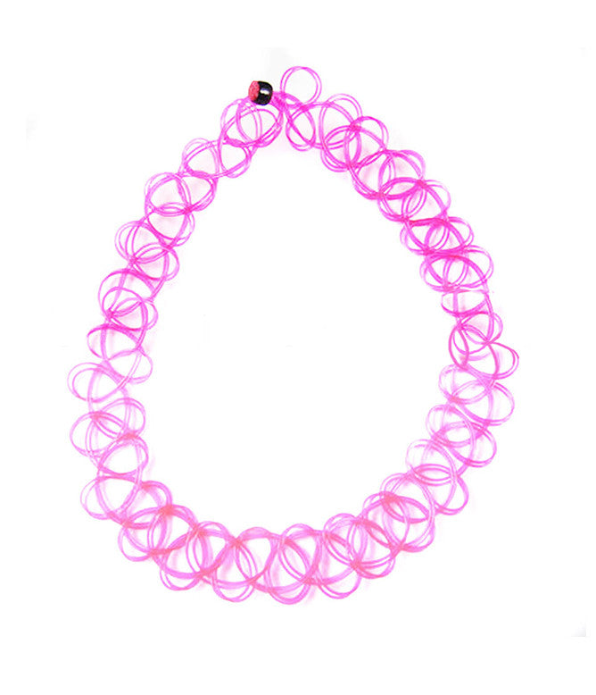 TATTOO CHOKER NECKLACE - PINK