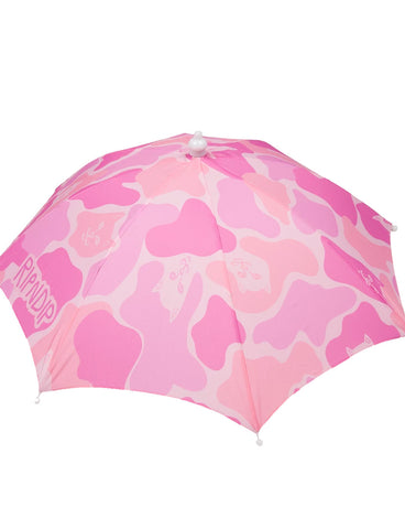 REAL SHADEY UMBRELLA HAT - PINK CAMO
