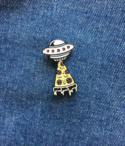 I BELIEVE IN PIZZA LAPEL PIN