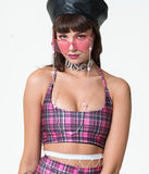 TWIGGY HALTER - PINK CHECK