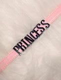 PRINCESS MINI WORD CHOKER - BABY PINK PU
