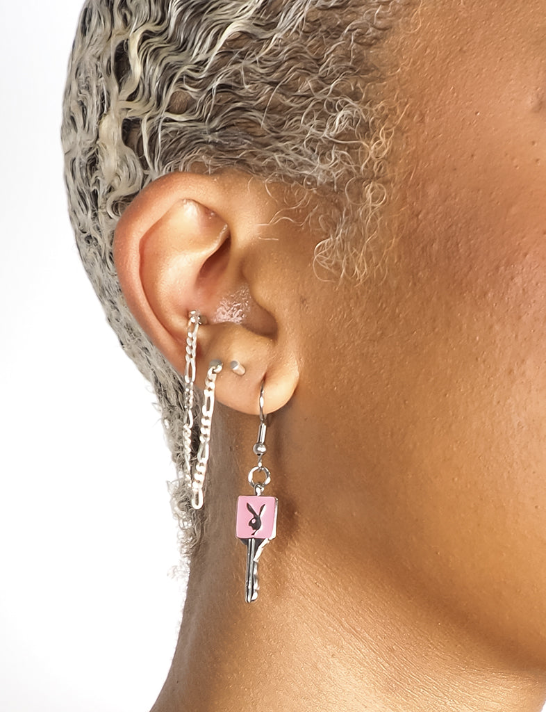 BUNNY KEY EARRINGS - PINK