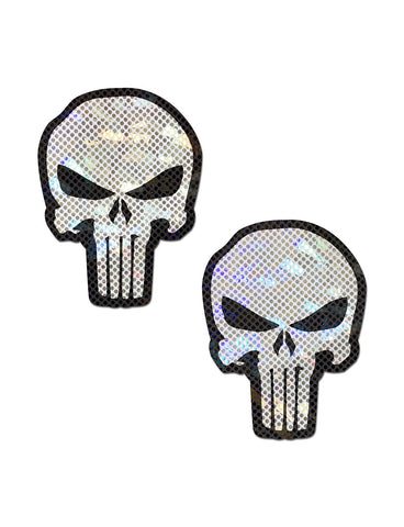 PUNISHER SKULL NIPPLE PASTIES