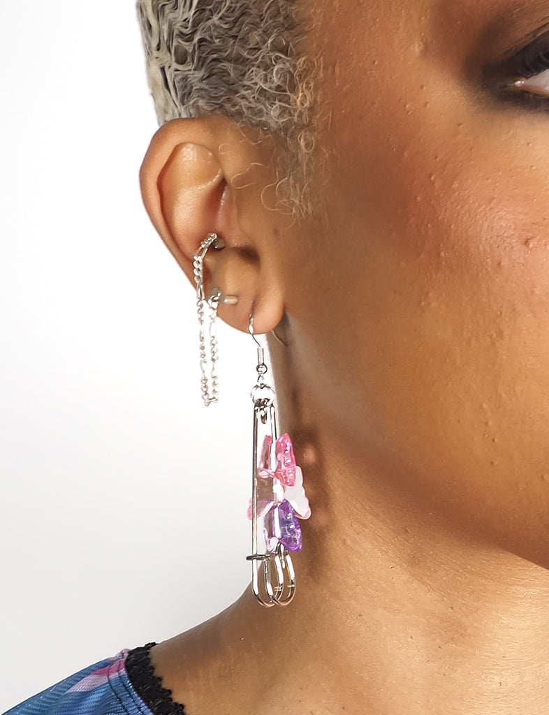 FLY AWAY BUTTERFLY EARRINGS - PINK
