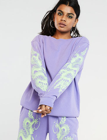 LILAC DRAGON SWEATSHIRT