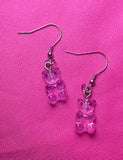 MINI GUMMI BEAR EARRINGS - PURPLE