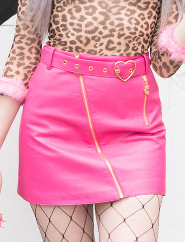 LAZY OAF G.E.M HOT PINK BIKER SKIRT