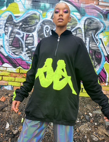 KAPPA X CYBERDOG RETRO WINDCHEATER - BLACK
